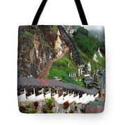 Covered Stairway To The Pindaya Caves Tote Bag