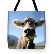 Cow With A Bell Tote Bag