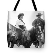 Cowboy And Cowgirl, C1908 Tote Bag