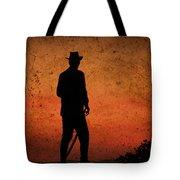 Cowboy At Sunset Tote Bag