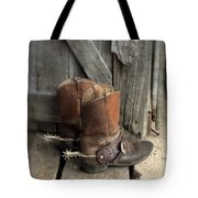 Cowboy Boots With Spurs Tote Bag