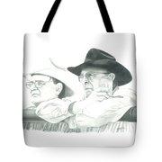 Cowboy Conversation Tote Bag by Tammy Taylor