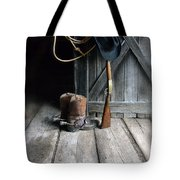 Cowboy Hat Boots Lasso And Rifle Tote Bag