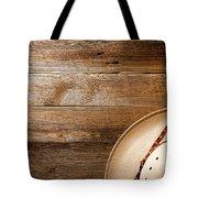 Cowboy Hat On Wood Tote Bag