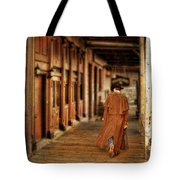 Cowboy In Old West Town Tote Bag
