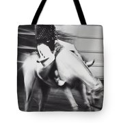 Cowboy Riding Bucking Horse  Tote Bag