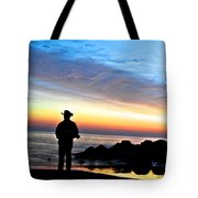 Cowboy Sunrise Tote Bag