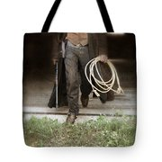 Cowboy With Guns And Rope Tote Bag