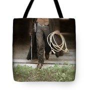 Cowboy With Guns And Rope Tote Bag