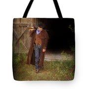 Cowboy With Guns Tote Bag