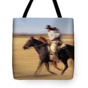 Cowboys Racing Horses Tote Bag