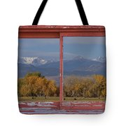 Cows Life Colorado Autumn Rocky Mountains Picture Window Art Tote Bag
