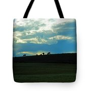 Cows On The Hill Tote Bag