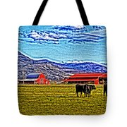Cows Pasture Barns Superspecialeffect Tote Bag