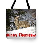 Coyote Christmas Tote Bag