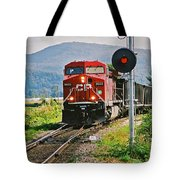 Cp Coal Train And Signal Tote Bag