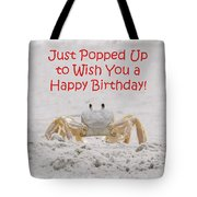 Crab Happy Birthday Tote Bag