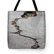 Crack In The Street Tote Bag