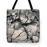 Cracked Rocks On Shore Tote Bag