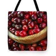 Cranberries In A Bowl Tote Bag