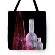 Cranberry And White Bottles Tote Bag