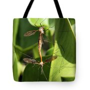 Crane Flies Mating Tote Bag