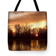 Crane Hollow Sunrise Before The Storm Tote Bag