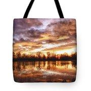Crane Hollow Sunrise Boulder County Colorado Hdr Tote Bag