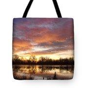 Crane Hollow Sunrise Reflections Tote Bag