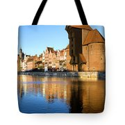 Crane In The Old Town Of Gdansk Tote Bag