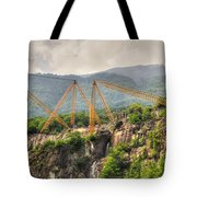 Crane On The Mountain Tote Bag
