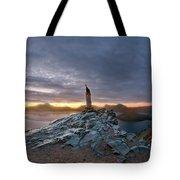 Crater Lake Autumn Dawn Tote Bag