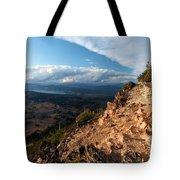Crater Lake Mountains Tote Bag