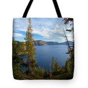 Crater Lake Through The Trees Tote Bag
