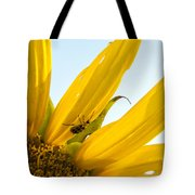 Crawling Along The Sunflower Tote Bag