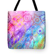 Crazy Flower Garden Tote Bag