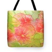 Creamsicle Hibiscus Tote Bag
