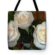 Creamy Roses II Tote Bag