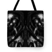 Black And White Mirror Tote Bag