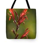 Crimson On Emerald Tote Bag