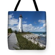Crisp Point Lighthouse 10 Tote Bag