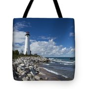 Crisp Point Lighthouse 11 Tote Bag