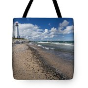 Crisp Point Lighthouse 13 Tote Bag
