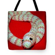 Crochet Snake In Red Tote Bag
