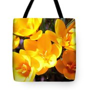 Crocuses In Yellow Tote Bag