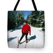 Cross-country Skiing, Lake Placid, New Tote Bag