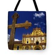 Cross Outside San Cristobal De Las Tote Bag