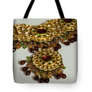 Cross Section Of A Purple And Yellow Gold Beautiful Necklace Tote Bag by Ashish Agarwal