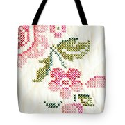 Cross Stitch Flower 1 Tote Bag