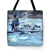 Crossing The Ourika River Tote Bag